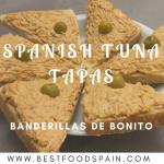 Spanish tuna tapas. Banderillas de bonito