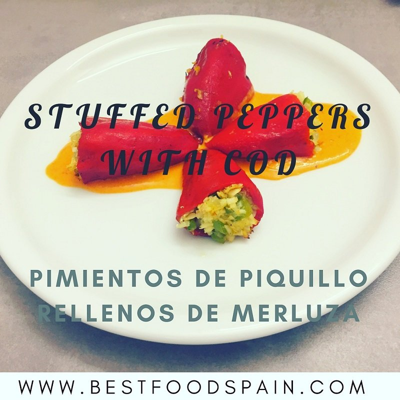 Spanish stuffed peppers with cod
