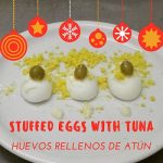 Stuffed eggs with tuna tapa