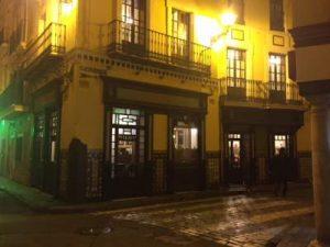 seville street with restaurant