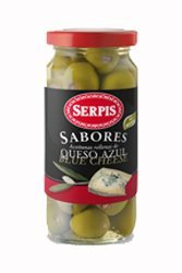 Serpis Green Olives Stuffed with Blue Cheese 8.29 oz