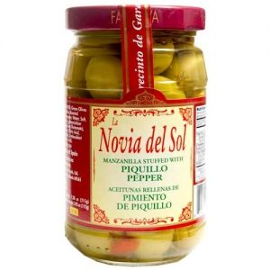 Manzanilla Olives with Piquillo Peppers – 6 pack