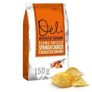 Walkers Market Deli Chorizo & Onion Crisps – 150g (0.33lbs)