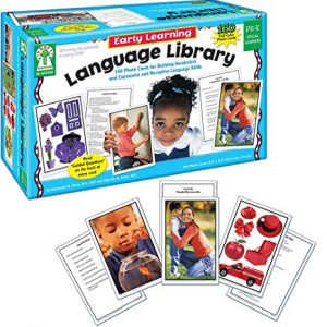 Carson Dellosa Key Education Early Learning Language Library Learning Cards (845036)