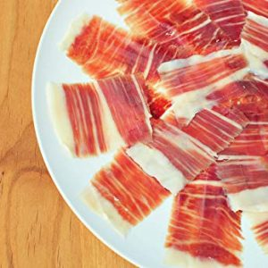 "Bundle of 3 Packages of 2.5 oz of Jamón 100% Ibérico De Bellota ""Pata Negra"" Hand Carved slice by slice by some of the best Master Carvers in Spain."