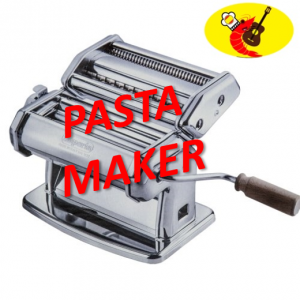 Pasta Maker Marcato Atlas, Includes Pasta Cutter, Hand Crank, and Instructions