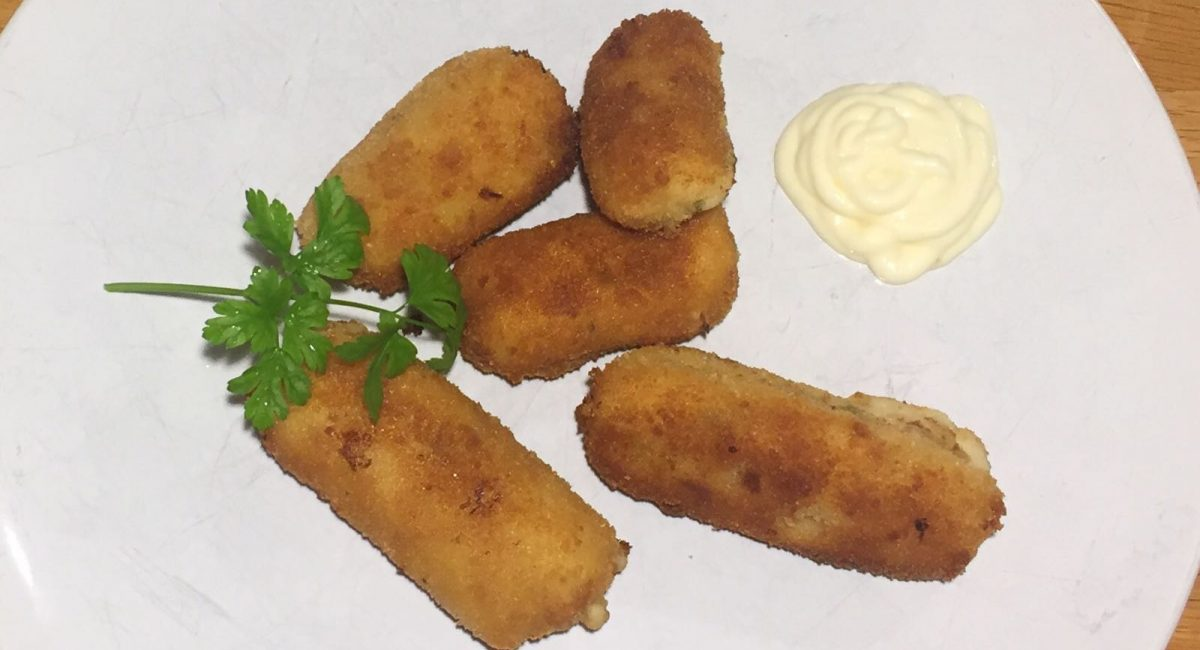 Different types of Spanish croquettes